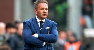 epa04782788 (FILE) A file picture dated 02 May 2015 of Sampdoria's head coach Sinisa Mihajlovic during the Italian Serie A soccer match between UC Sampdoria and Juventus FC at Luigi Ferraris stadium in Genoa, Italy. Sinisa Mihajlovic is close to signing a coaching contract with AC Milan after clinching an Europa League berth with Sampdoria, local media reported on 04 June 2015.  EPA/FRANCESCO DOLCI