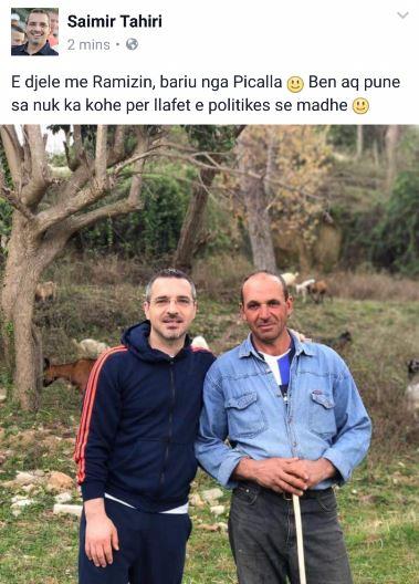 E diela e parë e Saimir Tahirit pas largimit nga Ministria