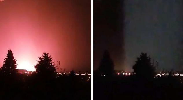 Një dritë e kuqe misterioze shfaqet në qiellin e Hungarisë (Video)