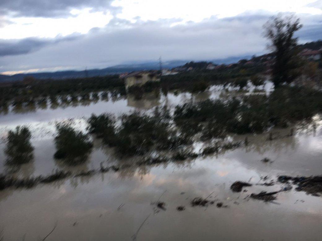 Çahen dy argjinatura të Vjosës Vlora në panik,disa zona nën ujë /Foto