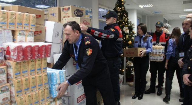 Policia e Tiranës ndihma për banorët që u përmbytën