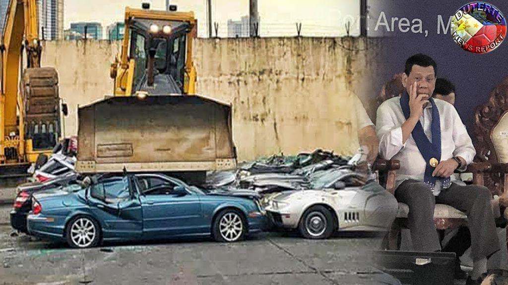 FOTO: Nga Porsche, te Jaguar! Presidenti rrafshon me buldozer makinat e kriminelëve