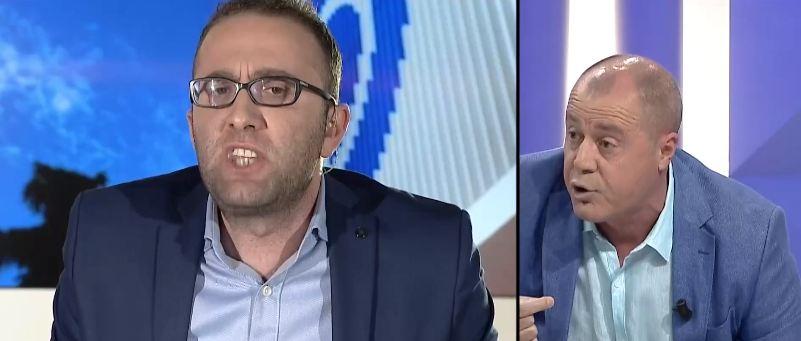 """""""Idiot me gjyslyke, kërriç, palaço"""", Nano sherr LIVE me ish-ministrin e Bashës"""