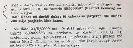 Përgjimi, a janë këto vërtetë SMS-të e Metës në celularin e Ismailajt?