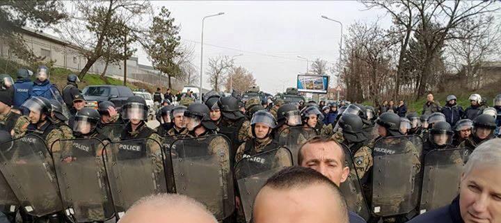 protesta kundër kryqit në Shkup