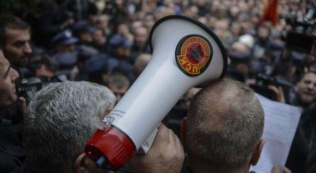 Veteranët e UÇK protestë para selisë së qeverisë