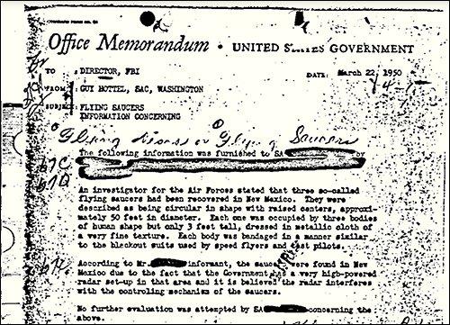 FBI / Dokument sekret që vërteton ekzistencën e UFO-ve