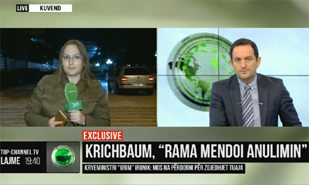 """Rama mendoi anulimin e takimit me Krischbaum"""