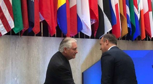 Hoxhaj takon Sekretarin Tillerson në Washington