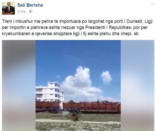 E vërteta e trenit me plehra të Sali Berishës