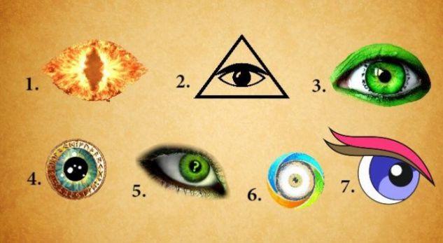 Zgjidhni njërin prej syve dhe zbuloni çfarë tregon për ju