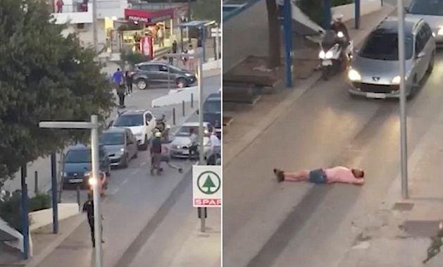 """""""Gjumë"""" në mes të rrugës, britanikun e rrahin në Ibiza"""