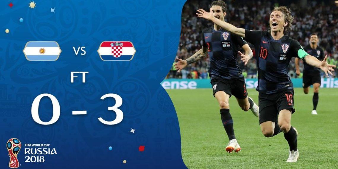 Argjentina e bën dramë, Kroacia e shpartallon 3-0