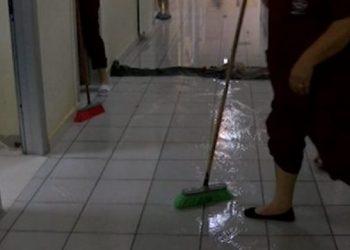 Shiu përmbyt edhe spitalin në Shkodër (VIDEO)