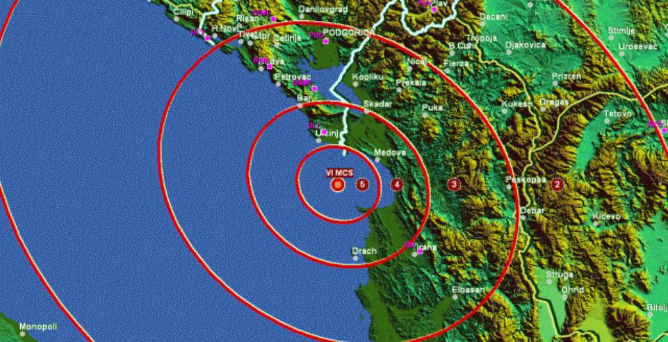 Shqipëria goditet përsëri nga tërmeti, ja ku ka qenë epiqendra