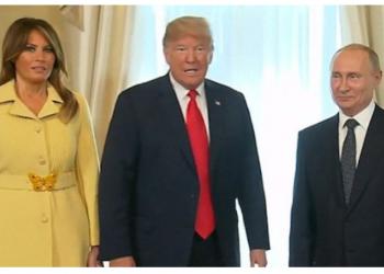 Zonja e parë e tmerruar pasi i shtrëngoi dorën Putinit, supozohet se ishte e 'vetmja në dhomë që kuptoi sa i rrezikshëm është ai'