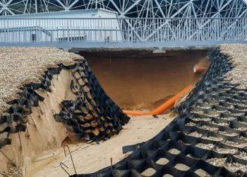 Shkatërrohet nga përmbytja stadiumi i Kupës së Botës (VIDEO)
