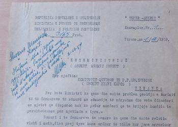 """Dokumenti """"tepër sekret"""", Kadri Hazbiu: Gjendje e rëndë, mbi 800 të burgosur të sëmurë, s'kemi ku t'i kurojmë (FOTO)"""