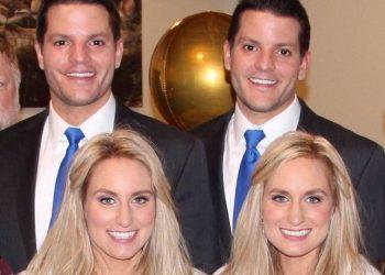 Histori interesante, çiftet identike, motrat binjake martohen me vëllezërit binjakë, shikoni fotot e dasmës (FOTO)