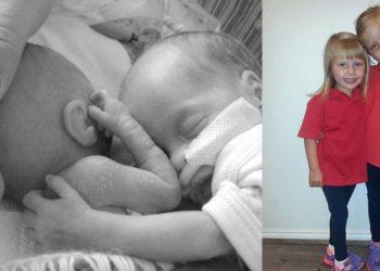 Mrekulli, bebja lindi parakohe, mbijeton pasi i vendosën pranë motrën binjake