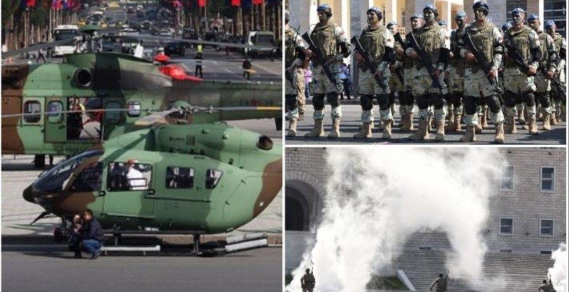 """Snajpera, helikopterë dhe kudo tym, Forcat Speciale """"pushtojnë"""" Tiranën (FOTO)"""