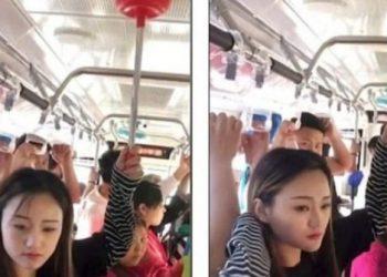 Veprimi gjenial i kinezes, të gjithë e përdorin në tualet por ajo e përdor edhe në autobus kur ka shumë njerëz (VIDEO)