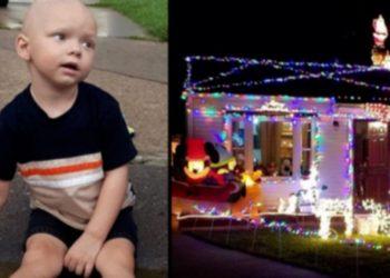 I ka mbetur një muaj jetë, lagjja feston Krishtlindjet para kohe për vogëlushin me kancer