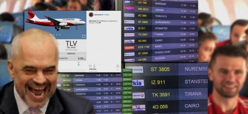 E morën me qira, Kombëtarja e Shqipërisë shkoi në Izrael me 'Turkish Airlines' (FOTO)