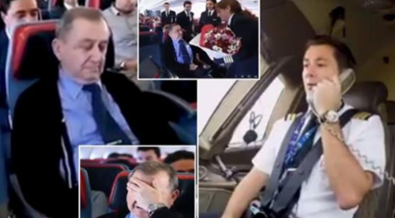 Zbuloi se mësuesi i tij ndodhet në avion, piloti i mahnit të gjithë me veprimin madhështor (VIDEO)