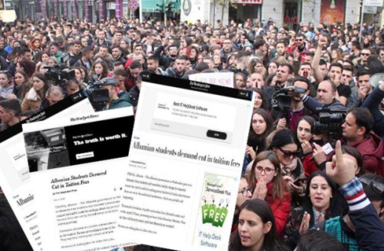 Mediat amerikane: Studentët derdhen rrugëve kundër qeverisë Rama
