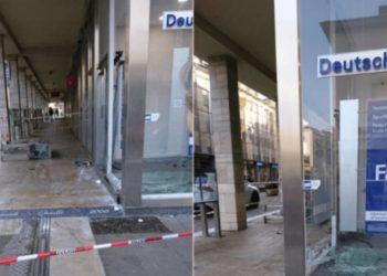 Shqiptari futet me gjithë makinë brenda bankës në Itali