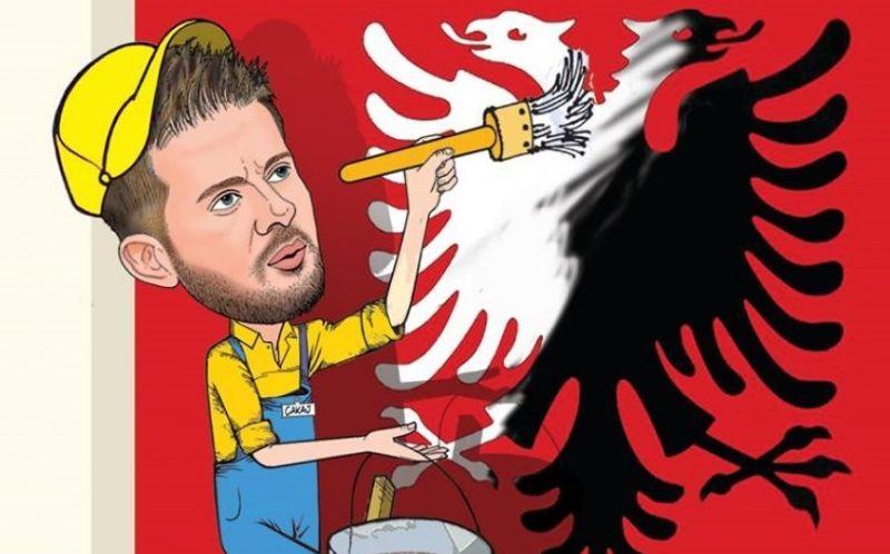 Karikatura nga Bujar Kapexhiu: Bojë e bardhë, faqja e zezë!