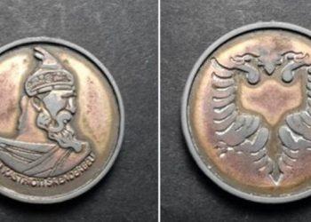 I shiti shqiptarit monedhën me figurën e Skënderbeut, kërcënohet me jetë greku