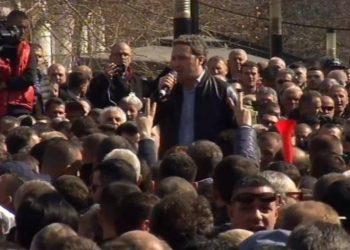 Spahia ndez protestën me thirrjet 'Rama ik! Rama ik! Rama ik!'