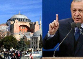 Erdogan: Sa të jemi ne, Shën Sofia nuk kthehet kurrë në kishë