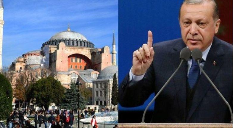 Erdogan  Sa të jemi ne  Shën Sofia nuk kthehet kurrë në kishë