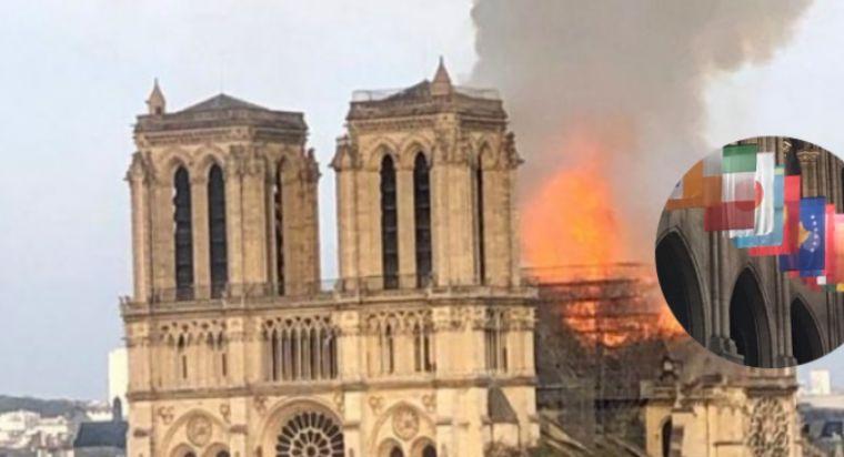 """Mediat serbe: Zoti e dënoi katedralen """"Notre Dame"""" pasi ngriti flamurin e Kosovës"""