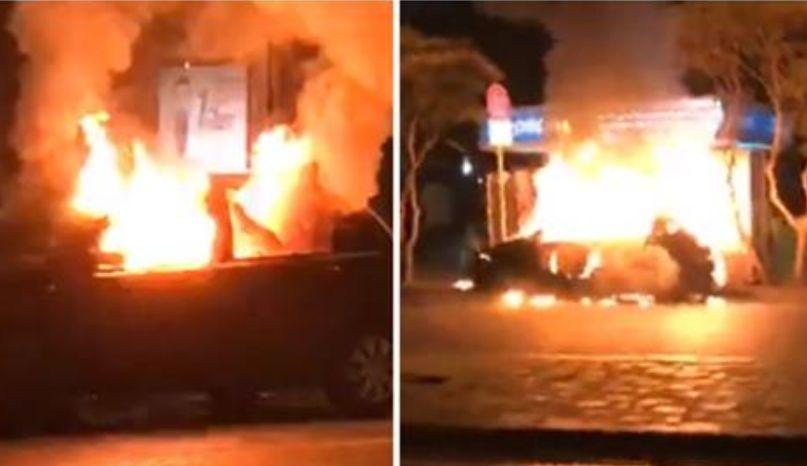"""""""Nuk e dogjën protesuesit makinën para Parlamentit, Policia ka inflirtuar njerëz"""""""