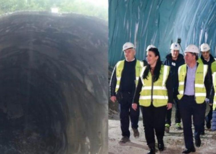 Rruga e Arbrit, kompania braktis tunelin e shembur