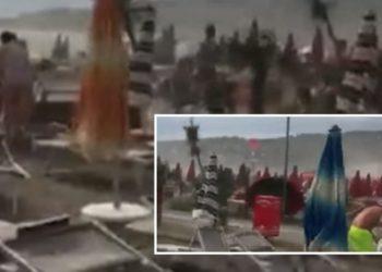Erërat e forta përfshijnë Shëngjinin (VIDEO)