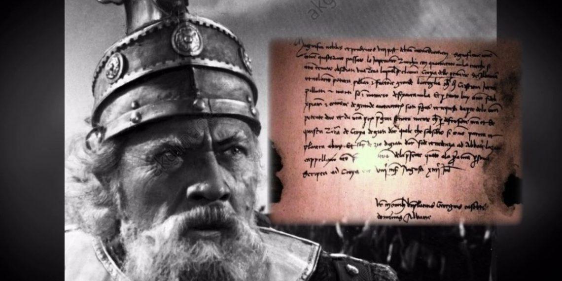 Publikohet letra e nënshkruar nga vet dora e Skënderbeut