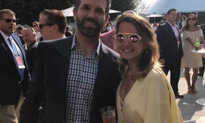Rudina Hajdari takim me djalin e Presidentit Trump