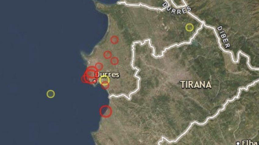 E fundit! Tjetër tërmet në Shqipëri