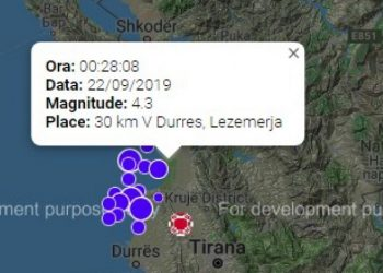 Tërmetet në Shqipëri, regjistrohen 340 lëkundje