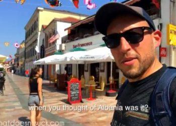 Perla e Ballkanit, çifti i turistëve bën videon perfekte në Shqipëri (VIDEO)