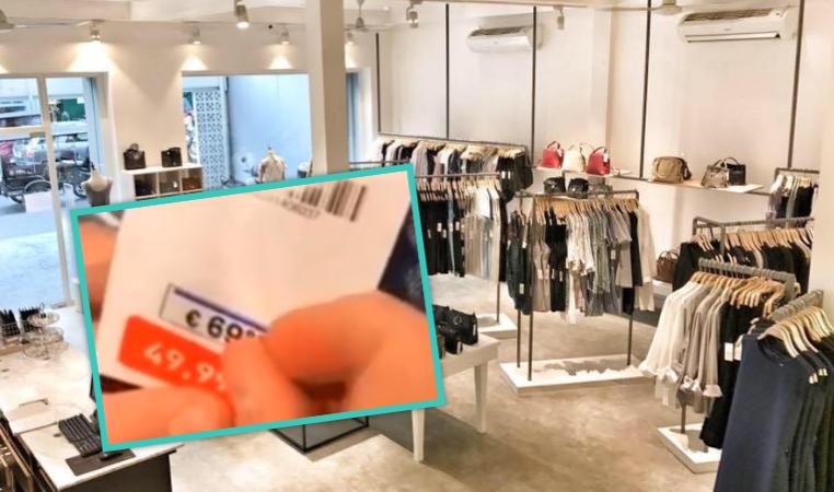 Qytetari zbulon se si po na mashtrojnë dyqanet e njohura për çmimet e rrobave (VIDEO)