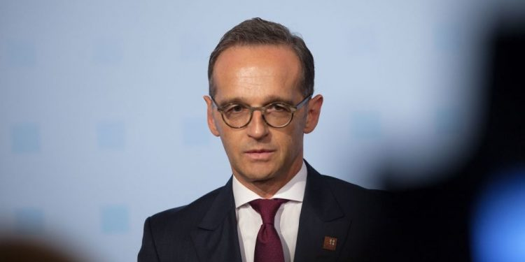 German Foreign Minister Heiko Maas gives a statement prior to an informal meeting of EU - Foreign Ministers (Gymnich) in Vienna, Austria, on August 30, 2018. (Photo by ALEX HALADA / AFP)        (Photo credit should read ALEX HALADA/AFP/Getty Images)