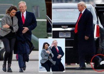 """Donald Trump """"fëlliqet"""" në aeroport, incidenti që i ndodhi për të dytën herë (FOTO)"""