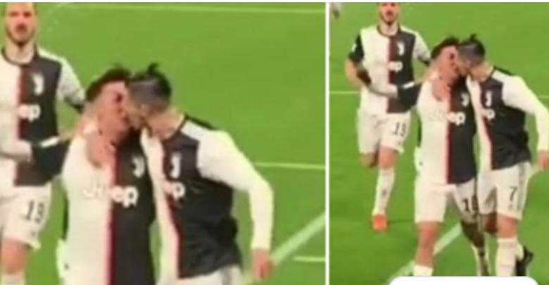 Pamjet që po çmendin rrjetin, Ronaldo dhe Dybala puthen në buzë pas fitores?