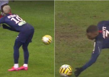 """Mbappe dhe Neymar e kanë kthyer në """"shaka"""" futbollin në Francë, njëri pason me të pasmet, tjetri shënon gol me dorë"""